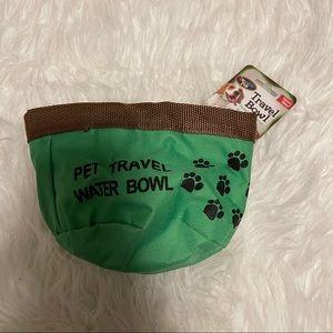 NWT Pet Travel Bowl